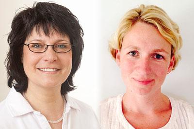 Praxisteam, v.l.n.r.: Hannelore Engelmann, Krankenschwester / Wiebke Essig, Krankenschwester